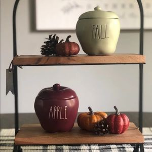 Rae Dunn fall Apple shaped candles